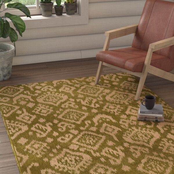 Sonora Green/Beige Area Rug by Loon Peak