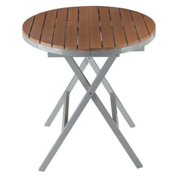 Dinesh Folding Metal Dining Table by Latitude Run