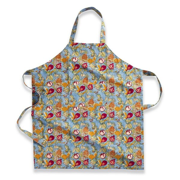 Tutti Frutti Blue Red Apron by Couleur Nature