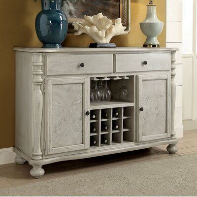 """One Allium Way Stoutland 52.75"""" Wide 2 Drawer Sideboard  Color: Antique White"""