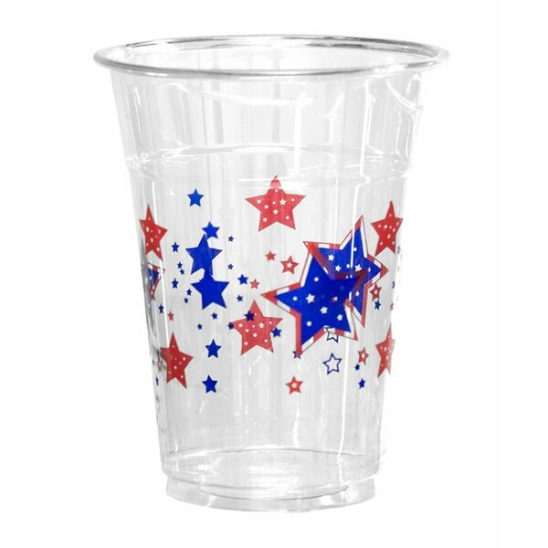 Patriotic Stars Plastic Disposable Cup (Set of 50) by Kovot