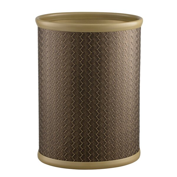 Hickory Oval Steel Waste Basket by Bay Isle Home