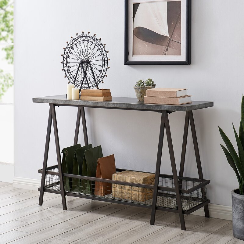 17 Stories Aguirre 47 25 Console Table Reviews Wayfair