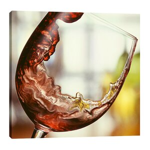 'Red Wine Pour' by Barry Seidman Photographic Print on Wrapped Canvas by Jaxson Rea