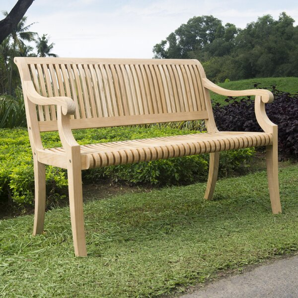 Balster Teak Garden Bench by Darby Home Co