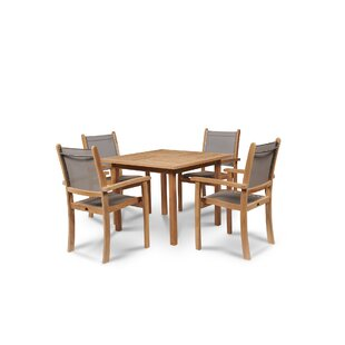 Kistler 5 Piece Teak Dining Set By Bayou Breeze