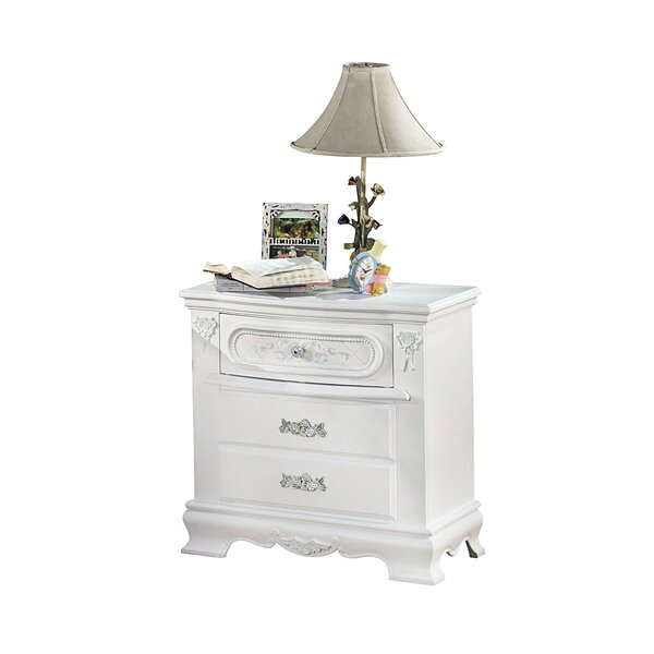 Tanner Wooden 3 Drawer Nightstand by House of Hampton
