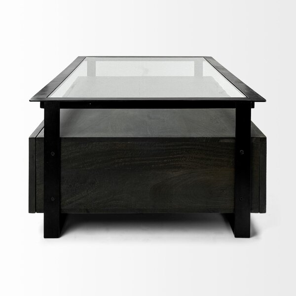 Macdonald Coffee Table With Tray Top And Storage By 17 Stories