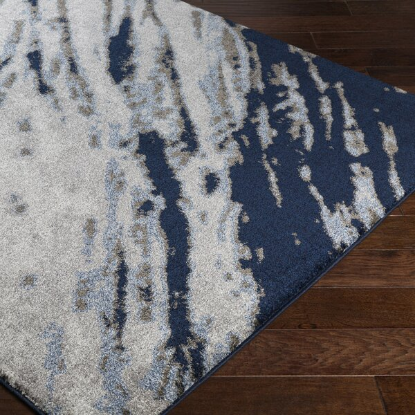 Danny Blue/Gray Area Rug by Williston Forge