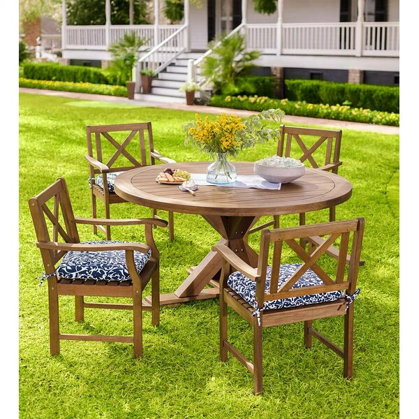 Claremont Eucalyptus Round 5 Piece Dining Set by Plow & Hearth