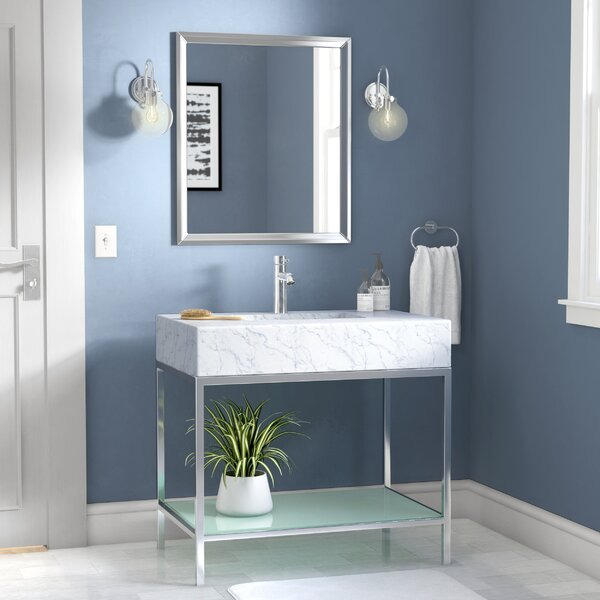 Malvina 36 Single Bathroom Vanity Set with Mirror by Orren Ellis
