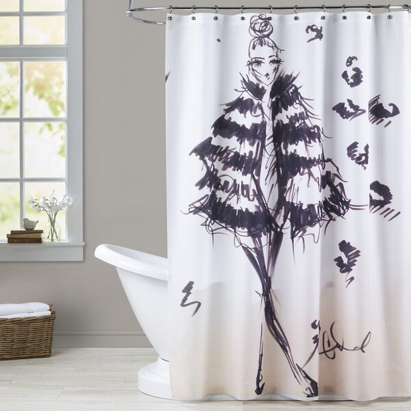 Medora Fierce in Fur Shower Curtain by House of Hampton