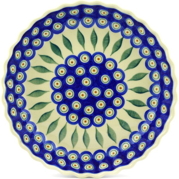 Peacock Fluted Pie Dish by Polmedia