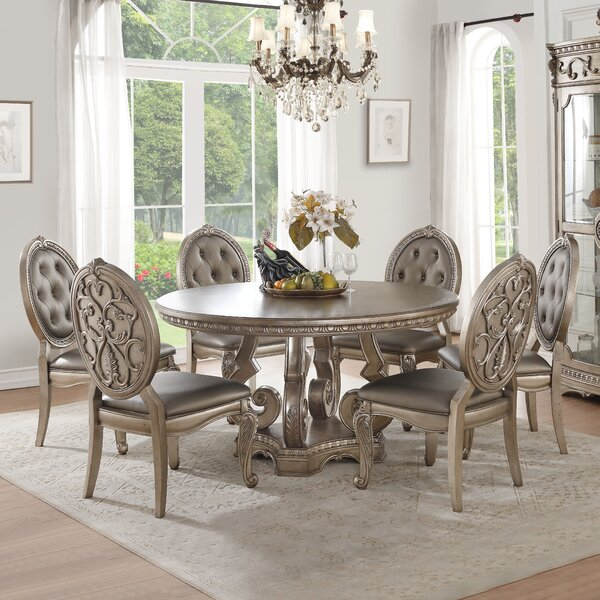 Leanos 7 Piece Dining Set by Rosdorf Park