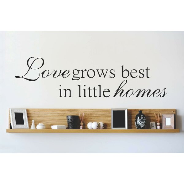 Love Grows Best In Little Home Living Room Bedrooms Wall Decal by Design With Vinyl