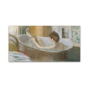 Woman in Her Bath, 1883 by Edgar Degas Painting Print on Canvas by Trademark Fine Art