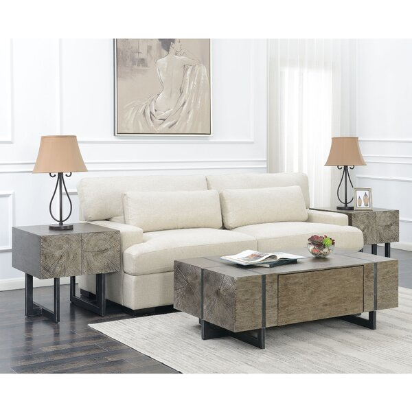 Nieves 3 Piece Coffee Table Set by Brayden Studio