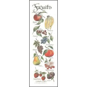 Life Lines Fruits by Lori Voskuil-Dutter Graphic Art Plaque by LPG Greetings