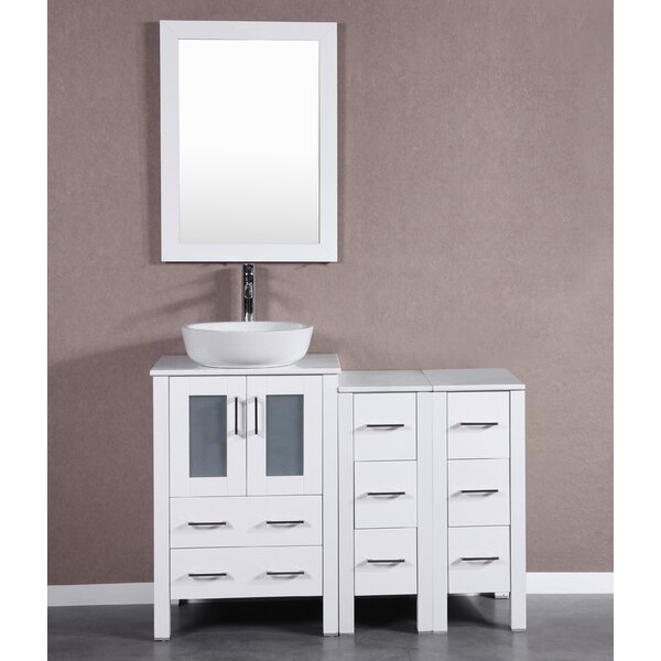 Bowie 48 Single Bathroom Vanity Set with Mirror by Bosconi