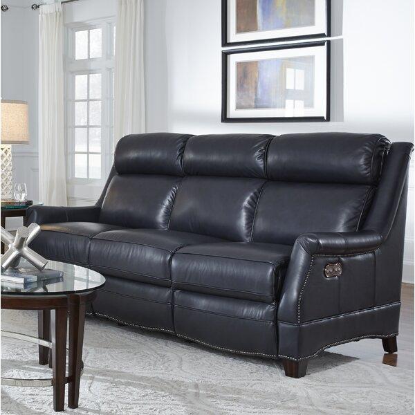 Cheadle Leather Reclining Sofa by Orren Ellis