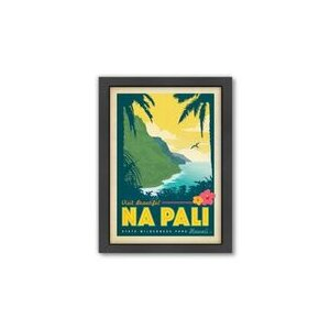 Hawaii NaPali by Anderson Design Group Framed Vintage Advertisement by Americanflat