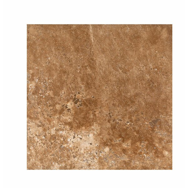 18 x 18 Travertine Field Tile in Dark Walnut Honed by Parvatile