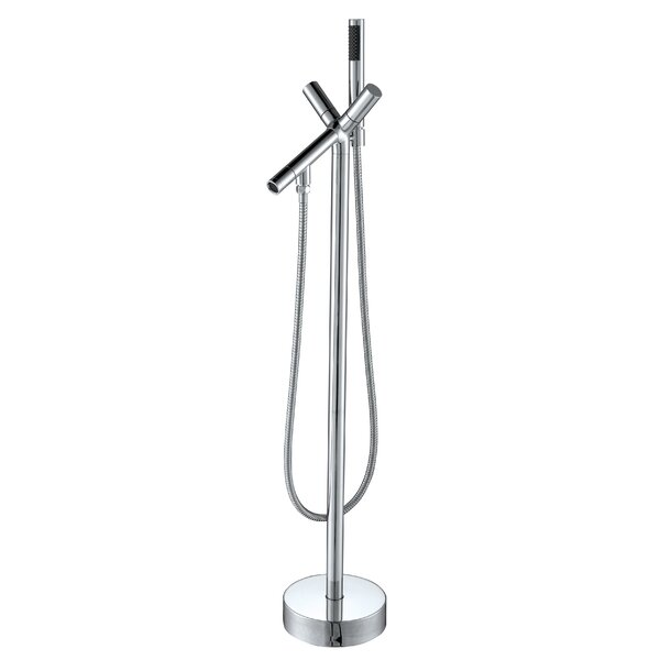 Havasu Double Handle Floor Mounted Clawfoot Tub Faucet with Hand Shower by ANZZI