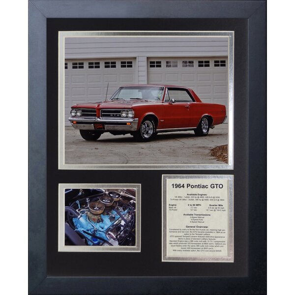1964 Pontiac GTO Framed Memorabilia by Legends Never Die