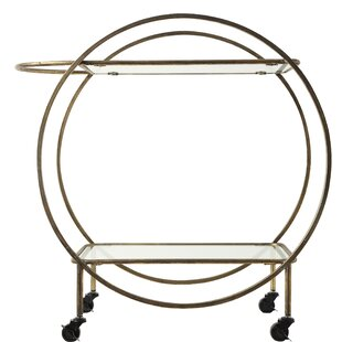 Shanklin Metal and Glass 2-Tier Bar Cart