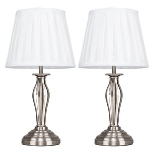 Wrought Iron 38cm Touch Table Lamp Set Of 2