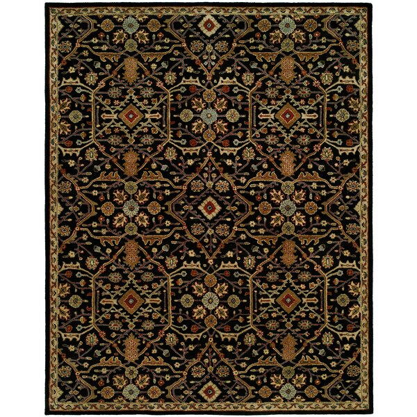 Chandran Tufted Black Area Rug by Meridian Rugmakers