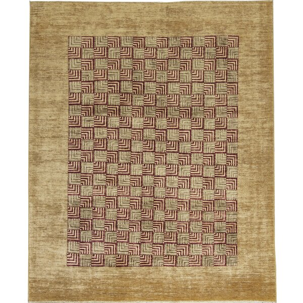 One-of-a-Kind Hand-Knotted Wool Gold Area Rug by Bokara Rug Co., Inc.