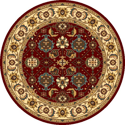 Vandergrift Red & Ivory Mahal Area Rug by Charlton Home