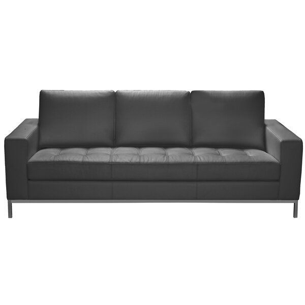 Witney Leather Sofa by Orren Ellis