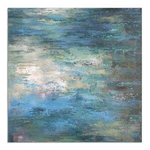 'Splish Splash Modern' Painting on Canvas by Brayden Studio