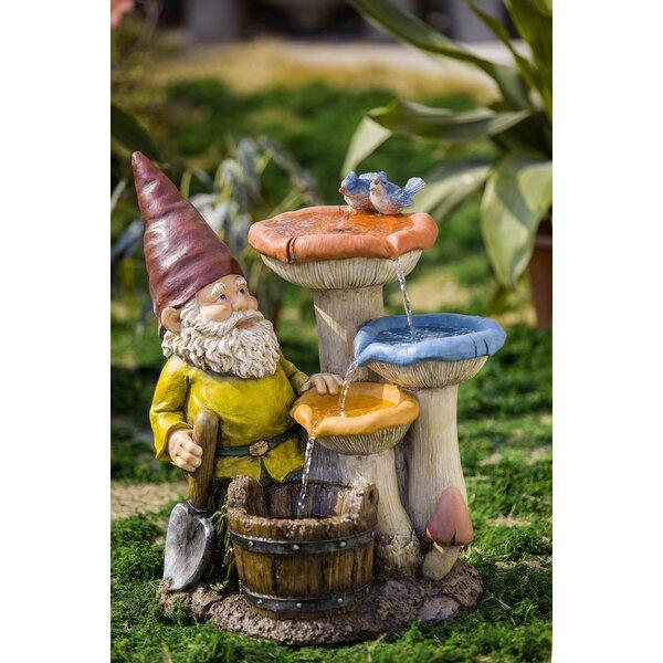 Resin/Fiberglass Gnome Garden Fountain by Jeco Inc.