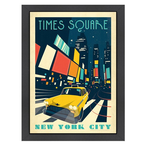 Times Square Framed Graphic Art by Americanflat
