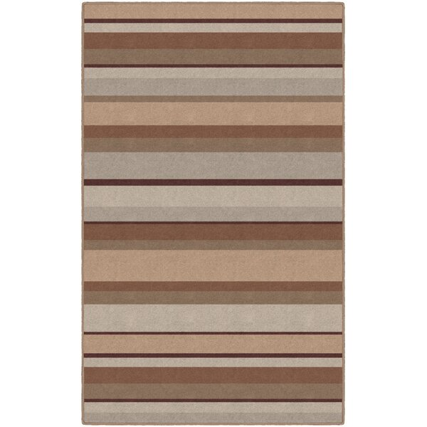 Archie Striped Tan Area Rug by Winston Porter