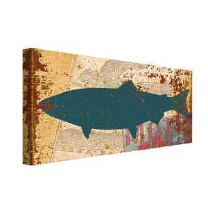 SS Salmon by IHD Studio Painting Print on Wrapped Canvas by Portfolio Canvas Decor
