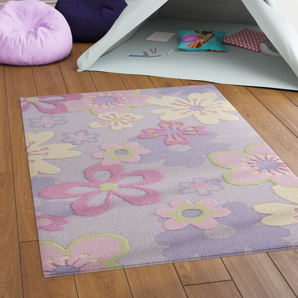 LeVar Hand-Tufted Pink/Purple Area Rug by Viv + Rae