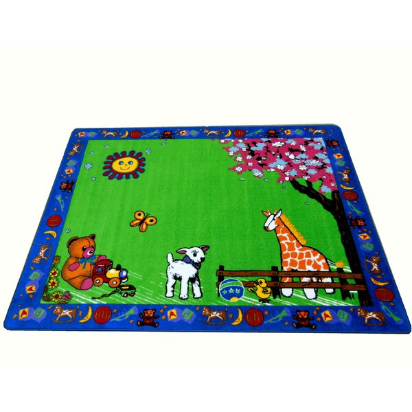 Infant Green Toys Area Rug by Kids World Carpets