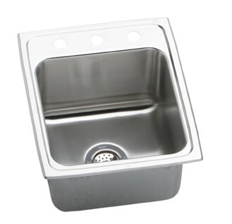 Lustertone 17 L x 20 W Extra Deep Self-Rimming Kitchen Sink by Elkay