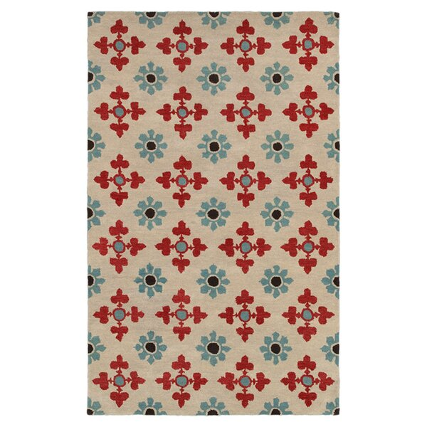 Hand-Tufted Ivory Area Rug by The Conestoga Trading Co.