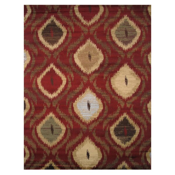Inspiration Red Area Rug by L.A. Rugs
