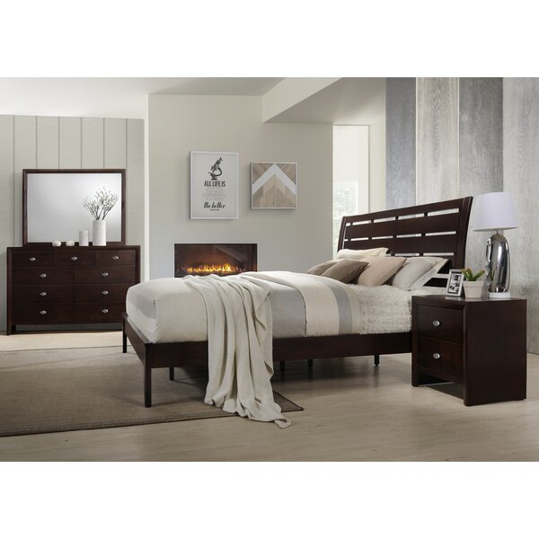 Gloria Platform 4 Piece Bedroom Set by Roundhill Furniture