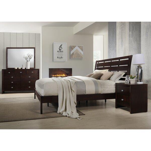 Gloria Platform 4 Piece Bedroom Set by Roundhill Furniture