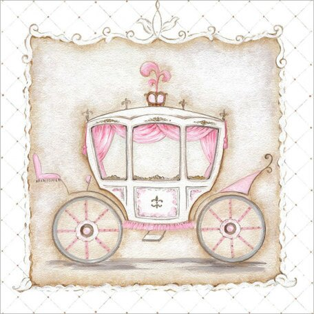 Little Princess Carriage III Canvas Art by Oopsy Daisy