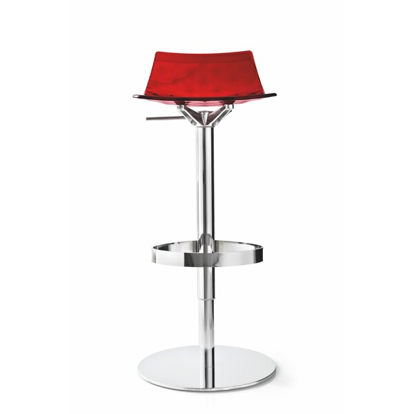 Elio Adjustable Height Swivel Bar Stool by Orren Ellis