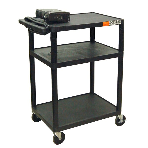 High Low Priced Table AV Cart with Electric by Luxor