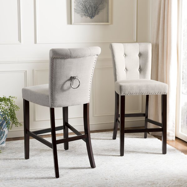 Prater Bar & Counter Stool With Cushion (Set of 2) by Darby Home Co